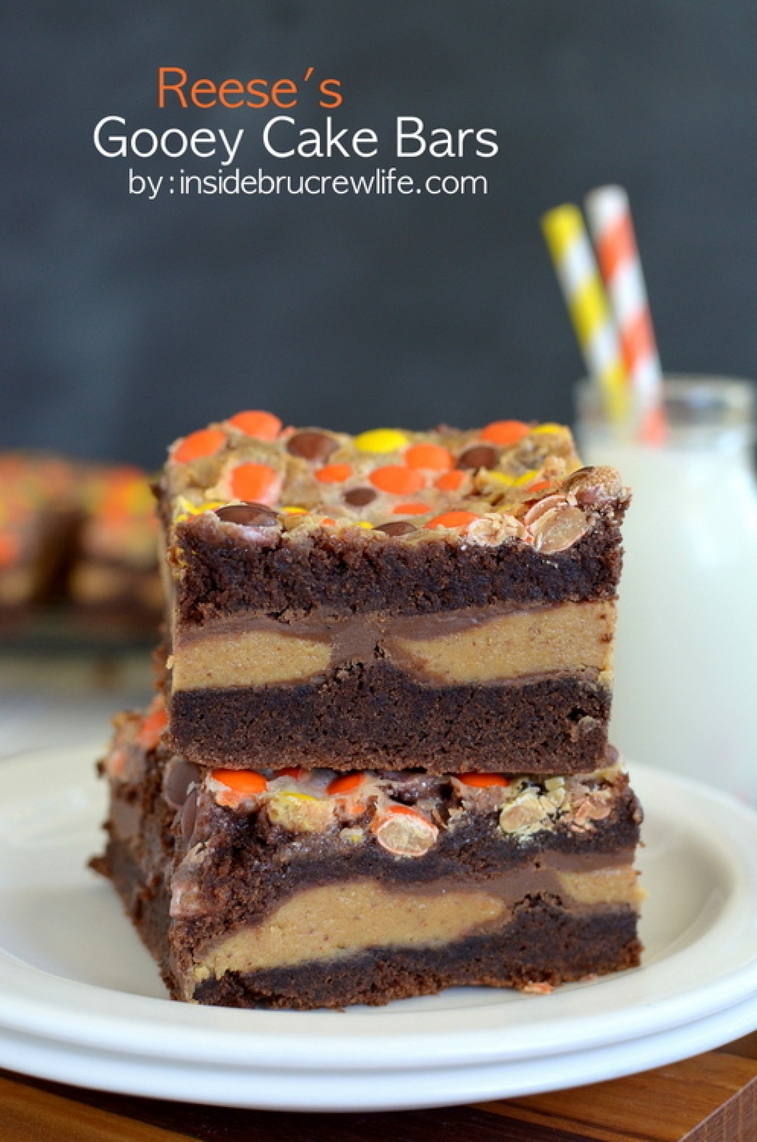 Reeseâ??s Gooey Cake Bars Recipe 6 | Just A Pinch Recipes