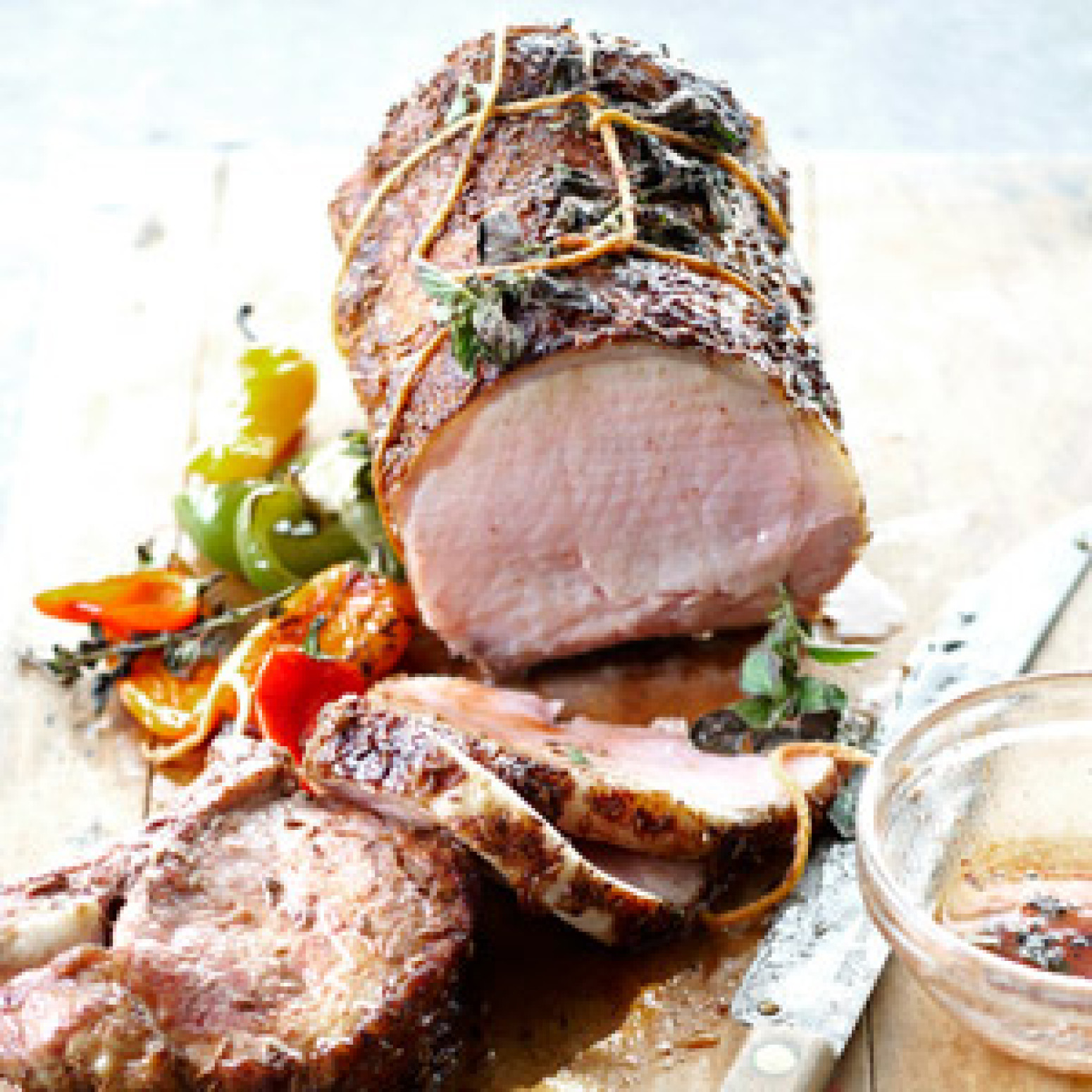 Honey glazed pork roast recipe just a pinch recipes - Christmas pork roast five recipes ...