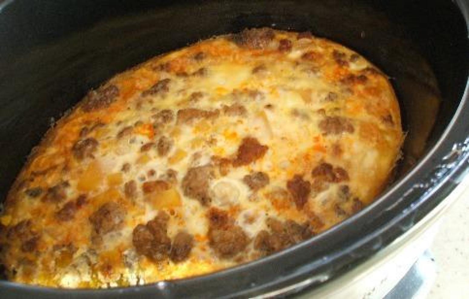 Crockpot breakfast recipe just a pinch recipes for Crockpot breakfast casserole recipes