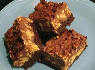 Peanut Butter Crunch Brownies Recipe