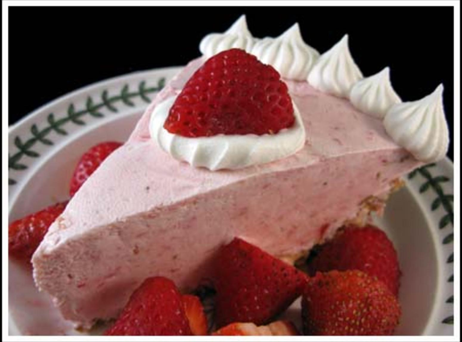 Grandma's Strawberry Cream Cheese Pie Recipe | Just A Pinch Recipes