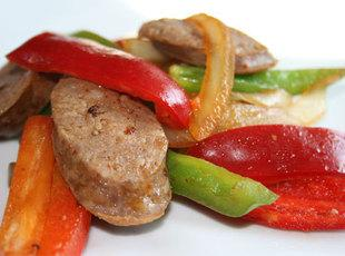 Screamin' Skillet Sausage and Peppers Recipe