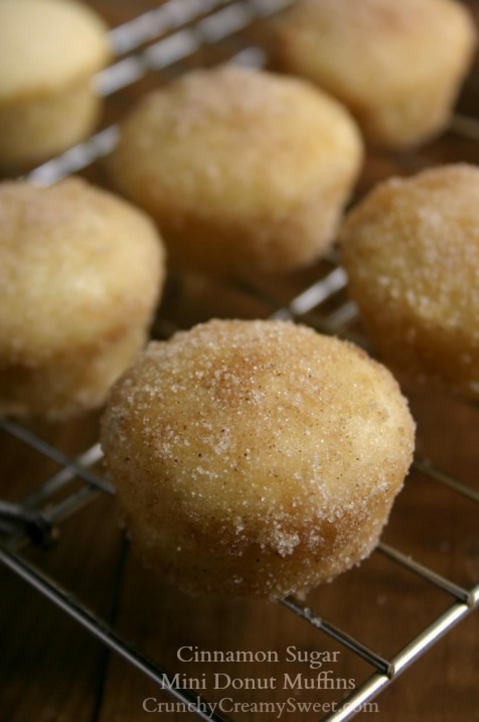 Cinnamon Sugar Mini Donut Muffins Recipe 2 | Just A Pinch ...