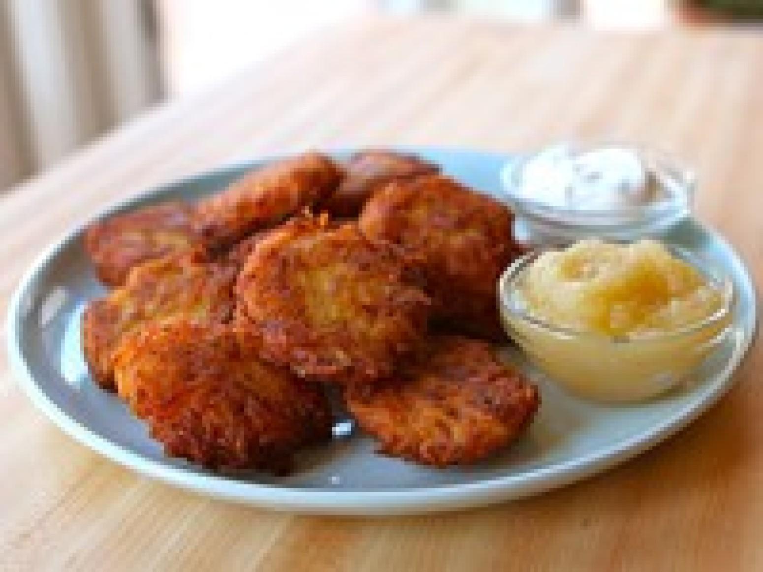Gluten Free Crispy Yukon Gold Latkes Recipe | Just A Pinch Recipes