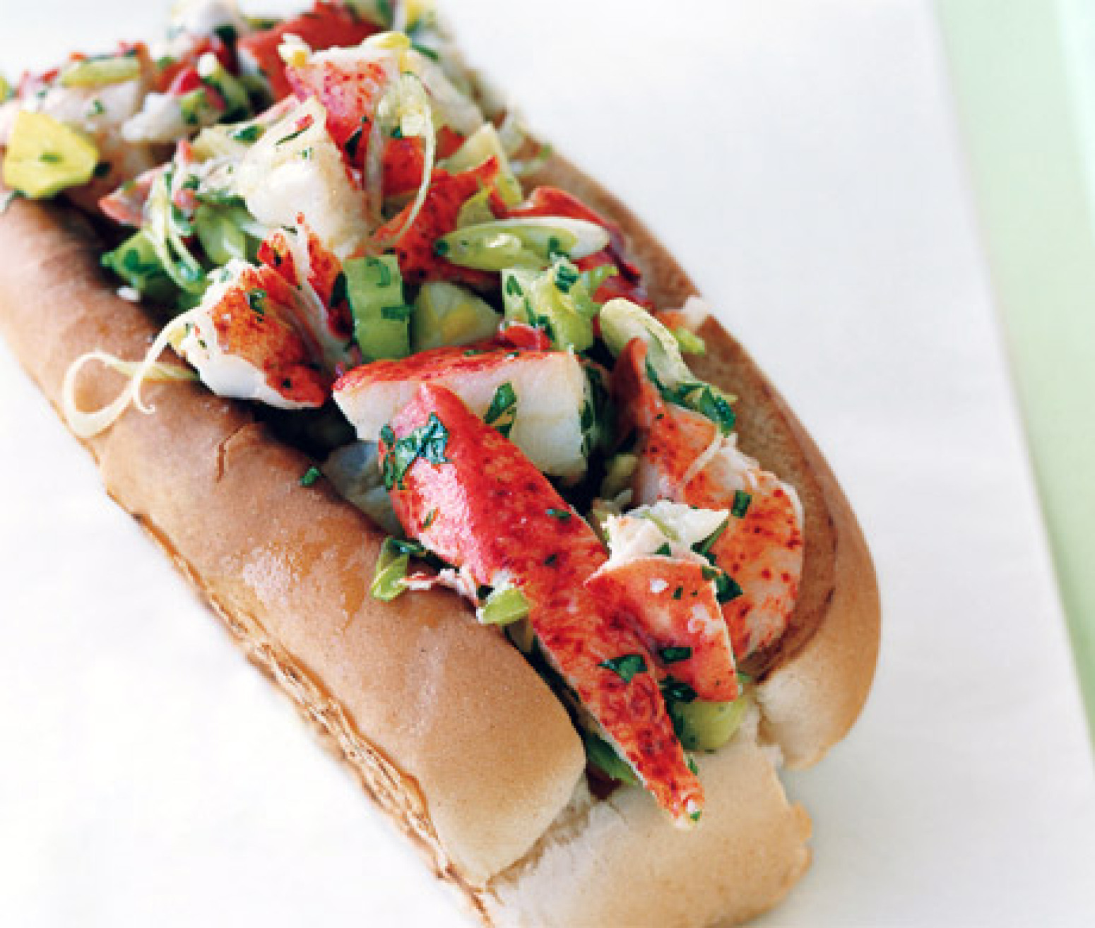 Lobster Rolls with Lemon Vinaigrette and Garlic Butter Recipe Epicuriouscom 3 | Just A Pinch Recipes