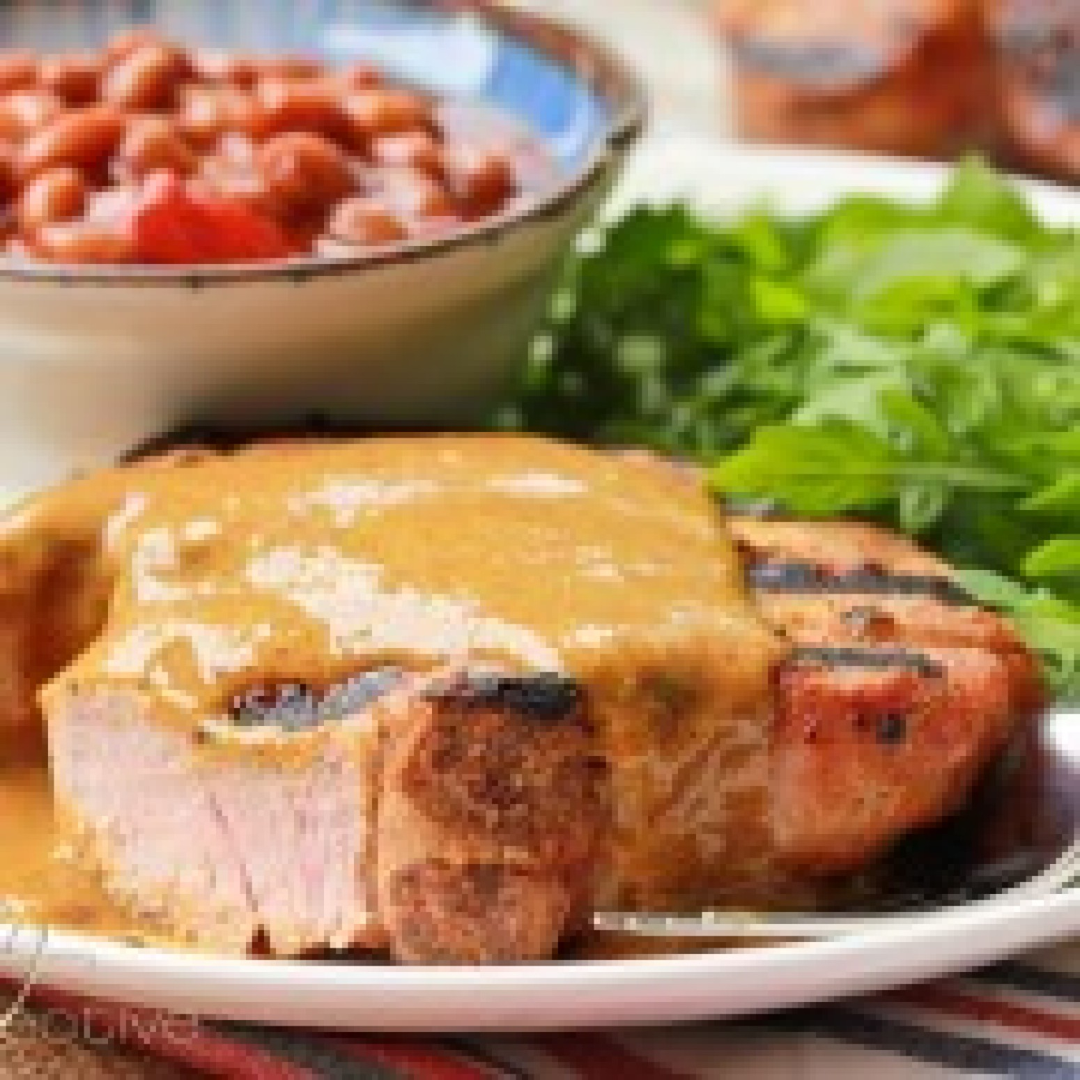 BBQ Pork Chops with Carolina BBQ Sauce Recipe   Just A ...
