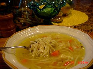 ALMOST CAMPBELL'S CHICKEN NOODLE SOUP -- BONNIES Recipe