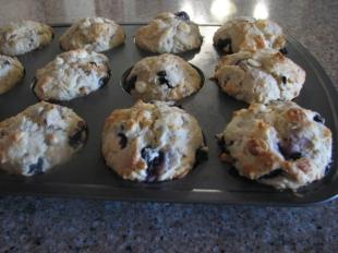 Blueberry-White Chocolate Chip - Pecan Muffins Recipe
