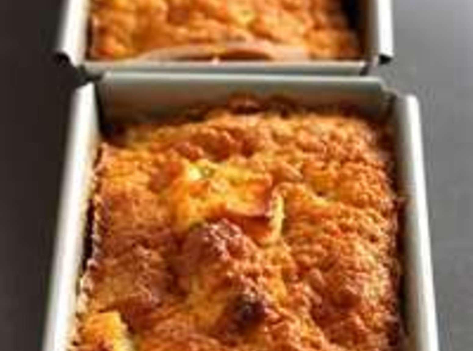 French Apple Bread Pudding Recipe