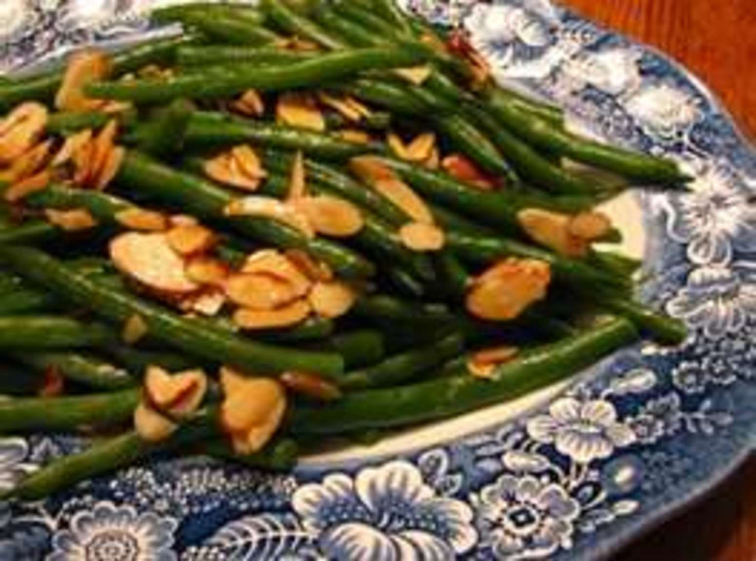 Green Beans a l'orange with Almonds and Wild Rice Recipe