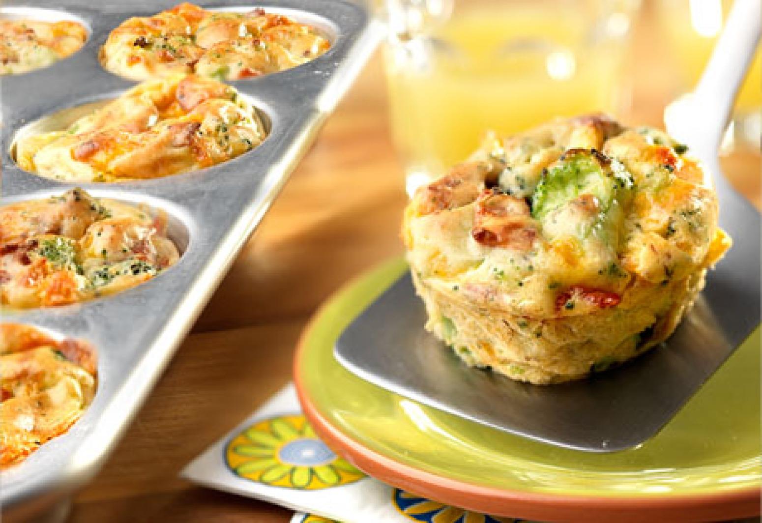 Campbell's Mini Cheddar, Broccoli & Bacon Quiches Recipe   Just A ...