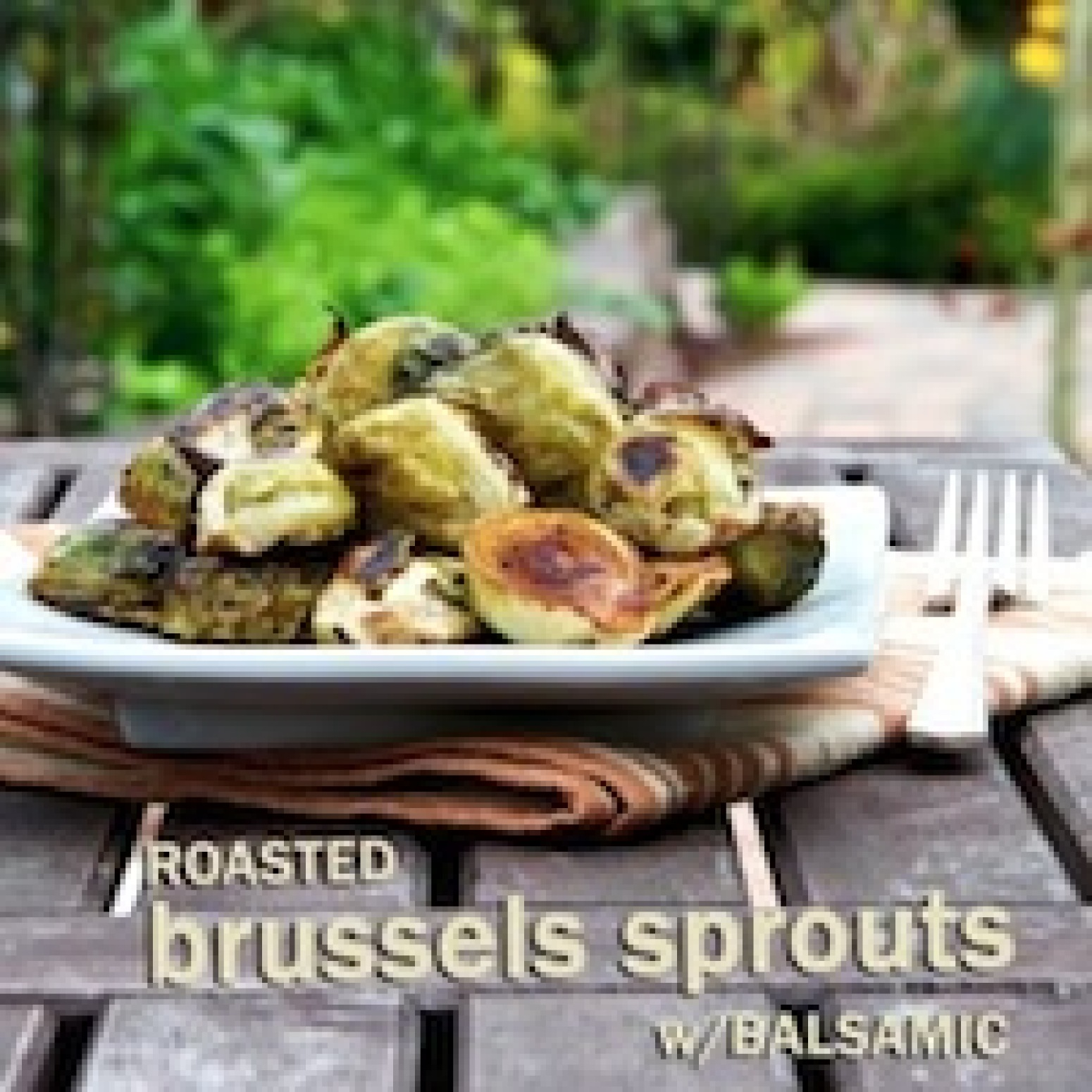 Roasted Brussels Sprouts w/ Balsamic Vinegar Recipe | Just A Pinch ...