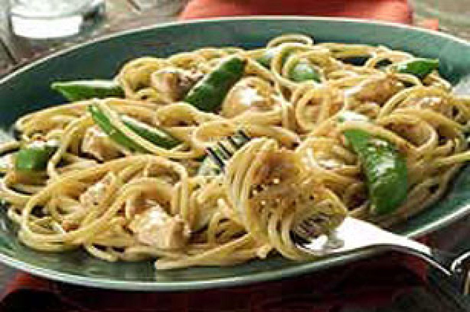 Thai Chicken and Sugar Snap Peas Recipe | Just A Pinch Recipes