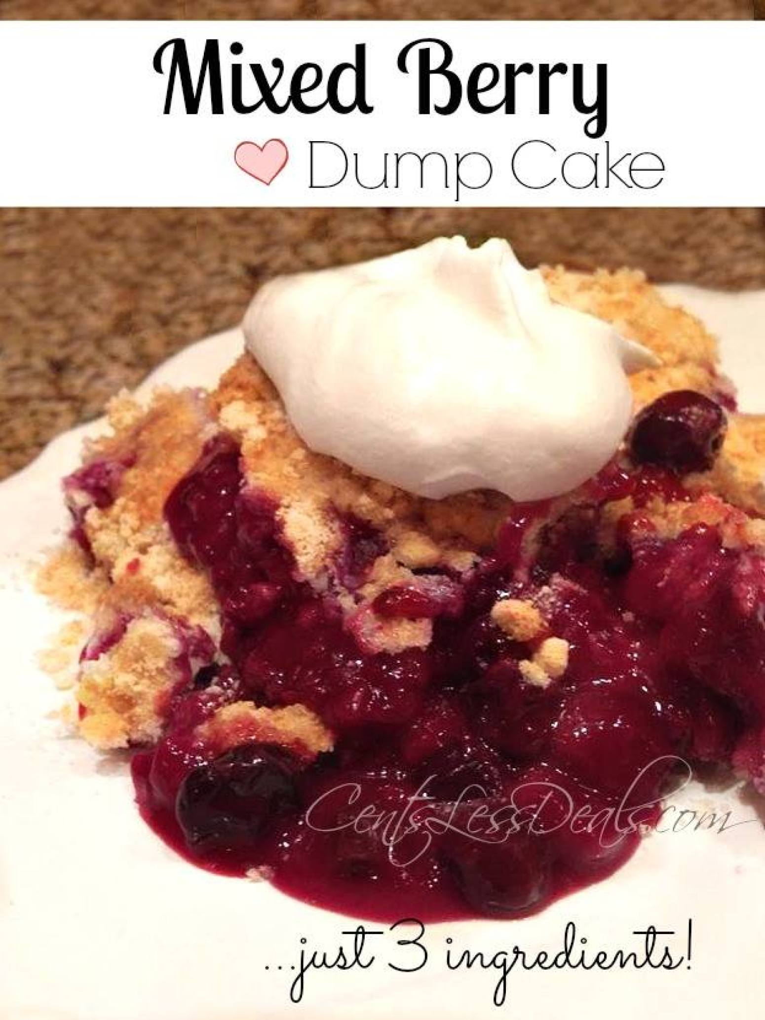 Mixed Berry Dump Cake The Kitchen