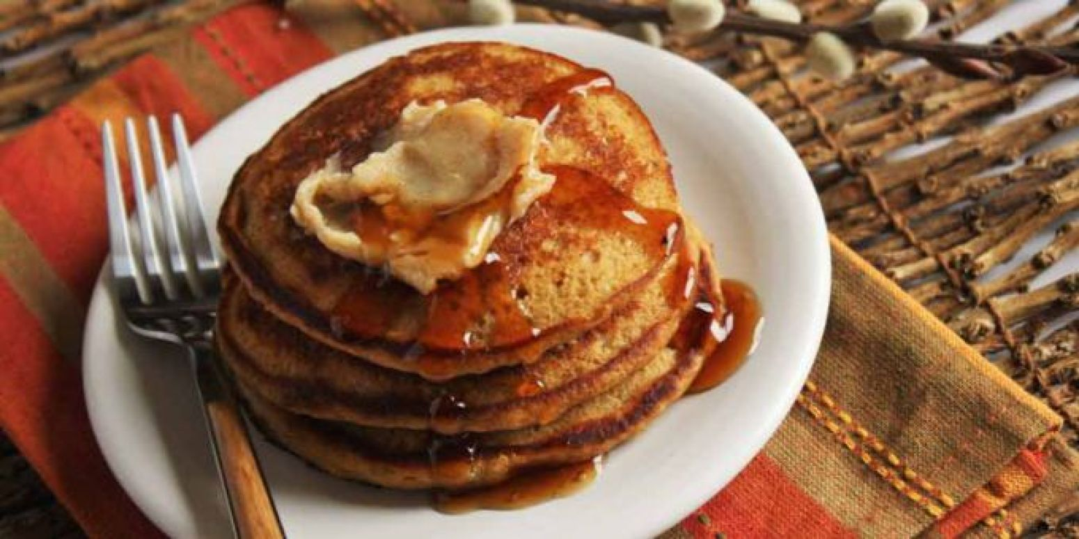 Gingerbread Pancakes with Maple Butter Recipe | Just A Pinch Recipes