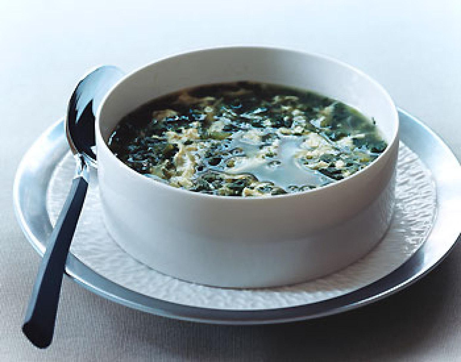 Spinach Stracciatella Soup Recipe Epicuriouscom   Just A Pinch Recipes