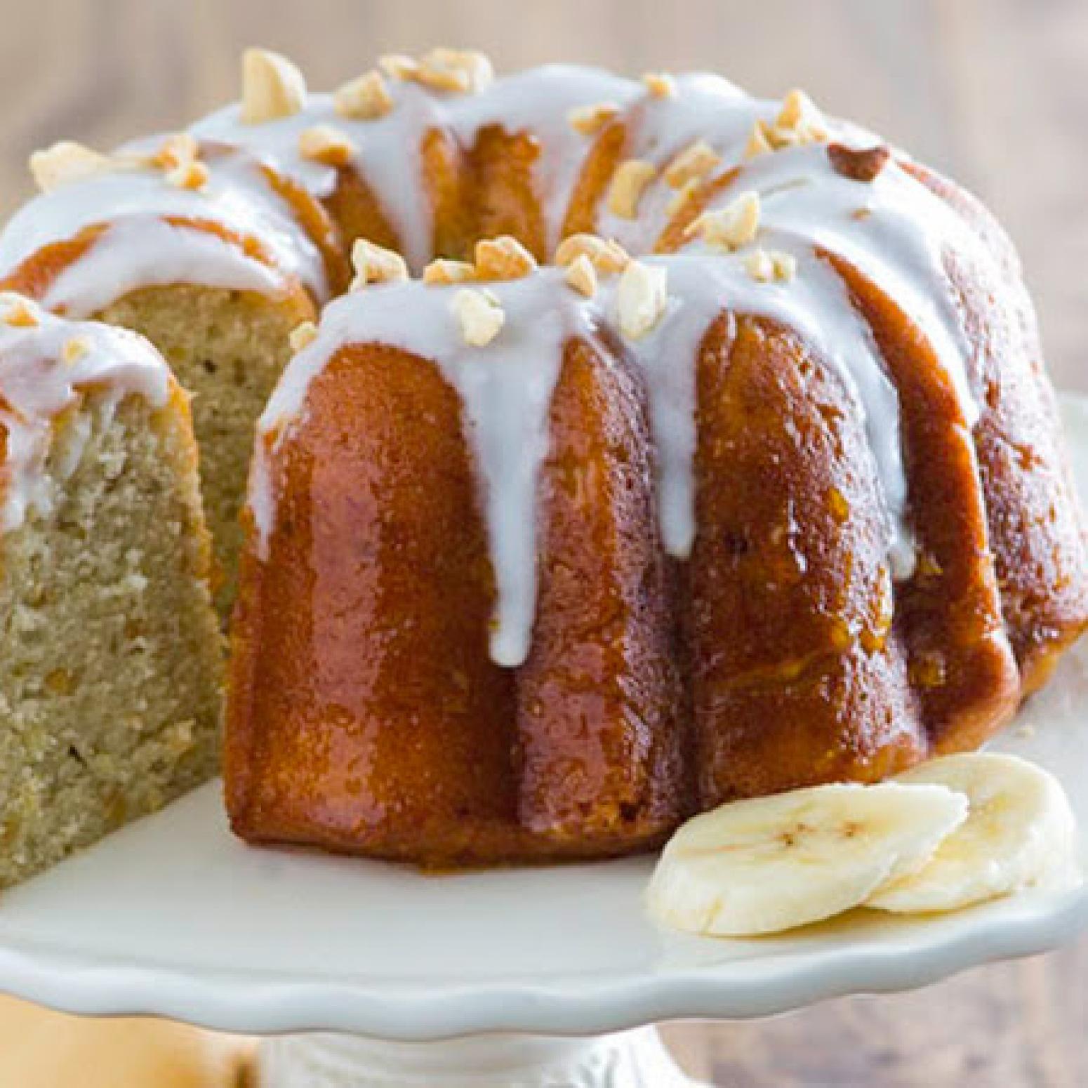 Banana Rum Cake Recipe