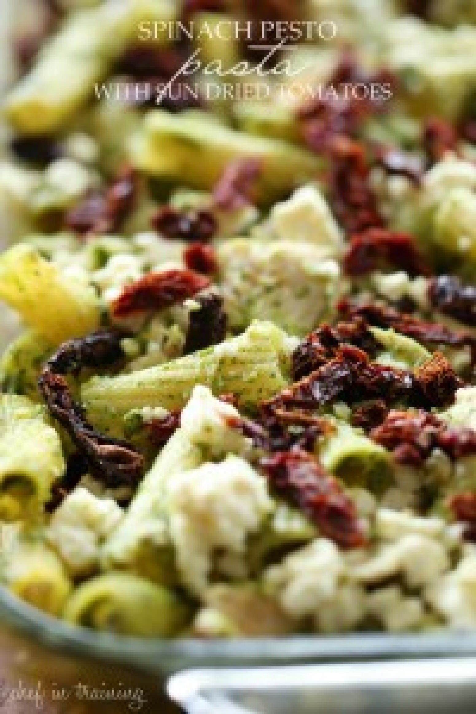 Spinach Pesto Pasta with Sun Dried Tomatoes Recipe | Just A Pinch ...