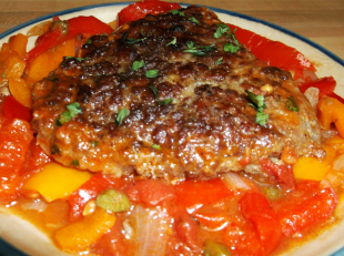 SWISS PEPPER STEAK with CAPERS