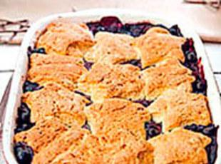 Blueberry Cobbler with Sweet Biscuit Topping Recipe