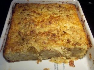 Lithuanian Kugelis  a potato, bacon dish Recipe