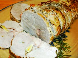 GARLIC ROSEMARY ROASTED PORK LOIN with Gravy Recipe
