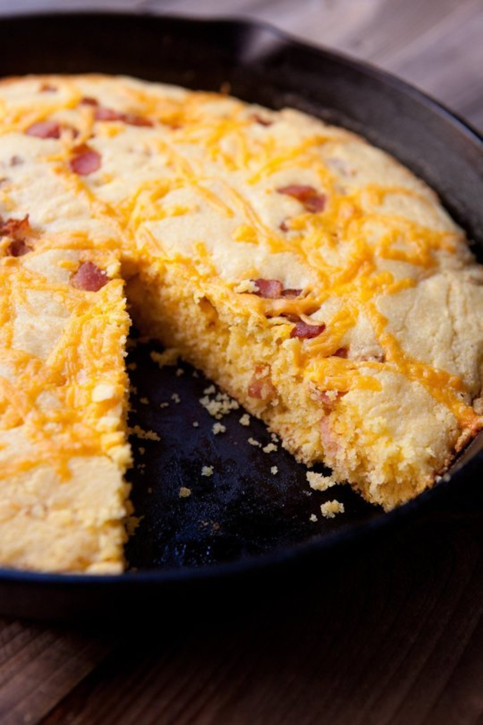 Bacon Cheddar Skillet Cornbread Recipe   Just A Pinch Recipes