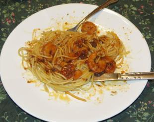 Papa Clem's Creole shrimp