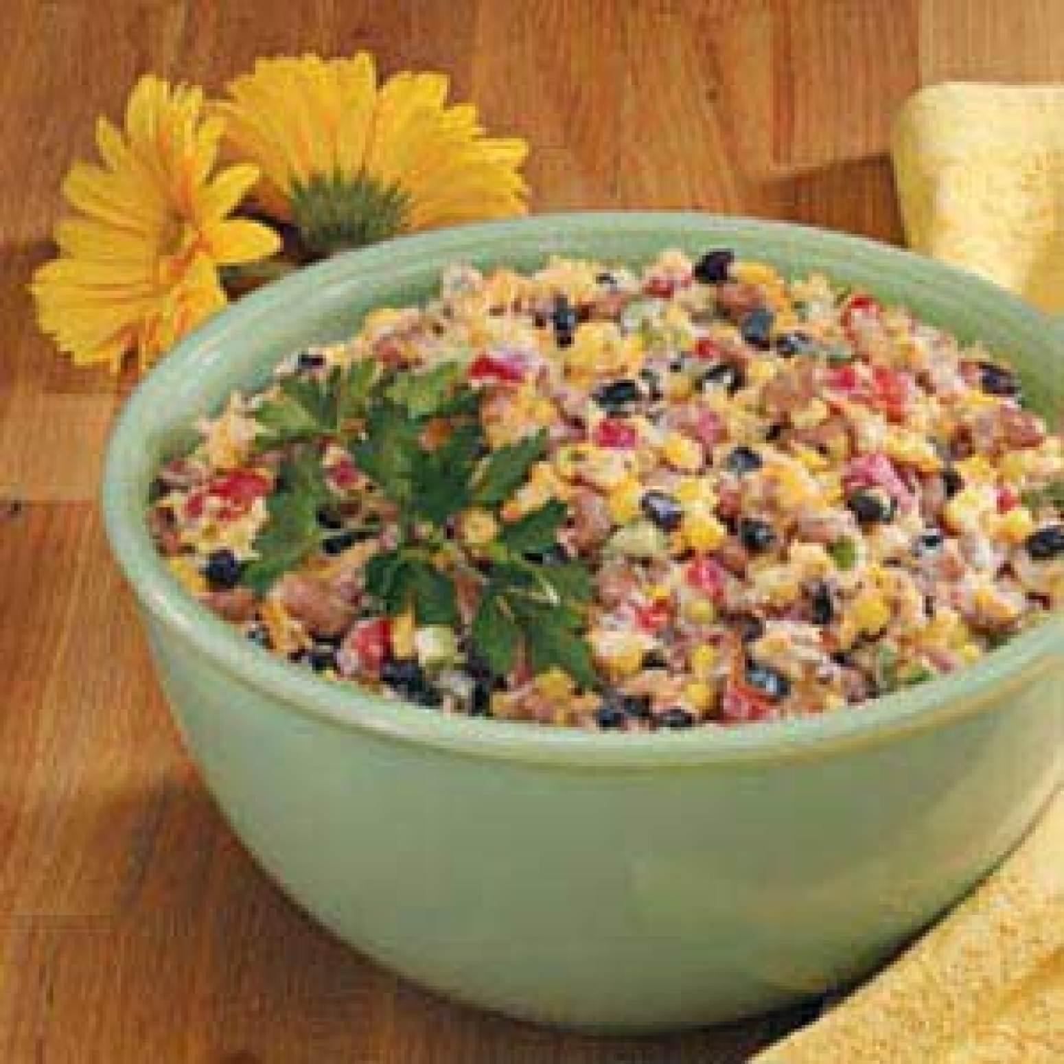 Corn Bread Confetti Salad Recipe   Just A Pinch Recipes