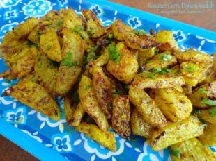 Roasted Curry Daikon Radish
