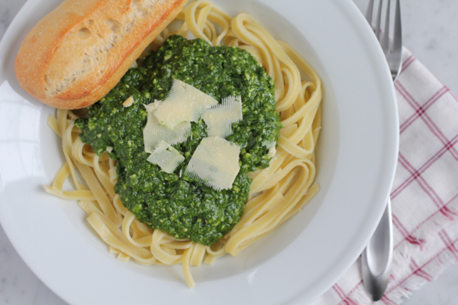 Spinach Pesto with Almond Flour Pasta Recipe | Just A Pinch Recipes