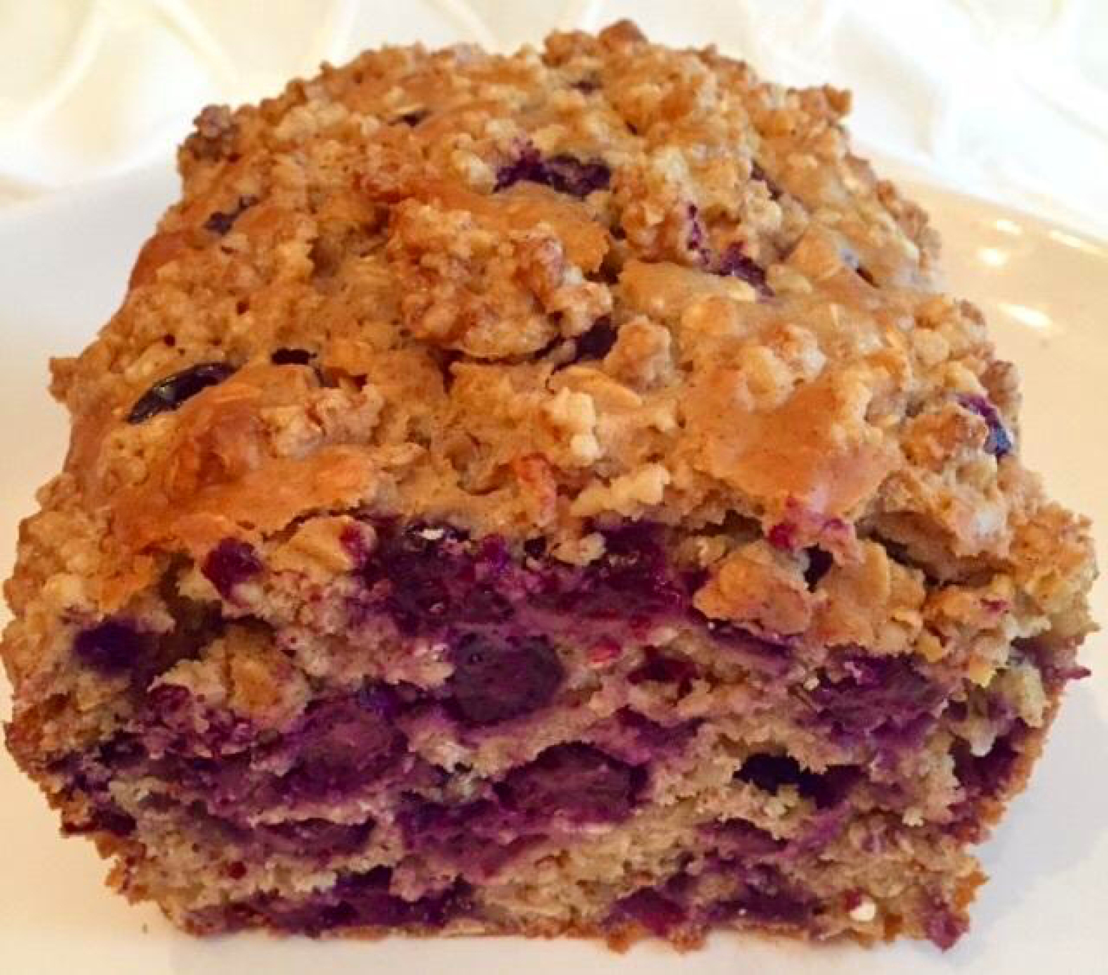 Healthier Blueberry Oat Bread By Noreen Recipe | Just A Pinch Recipes