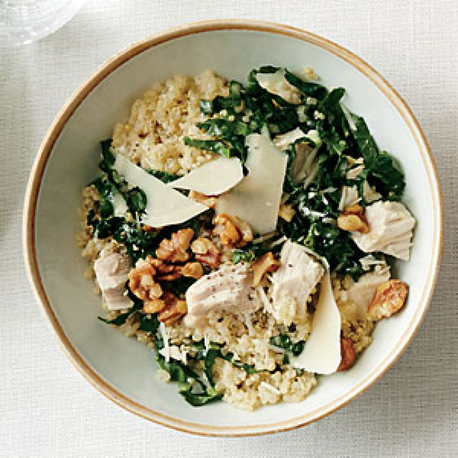 Kale Caesar Quinoa Salad with Roasted Chicken Recipe | Just A Pinch ...
