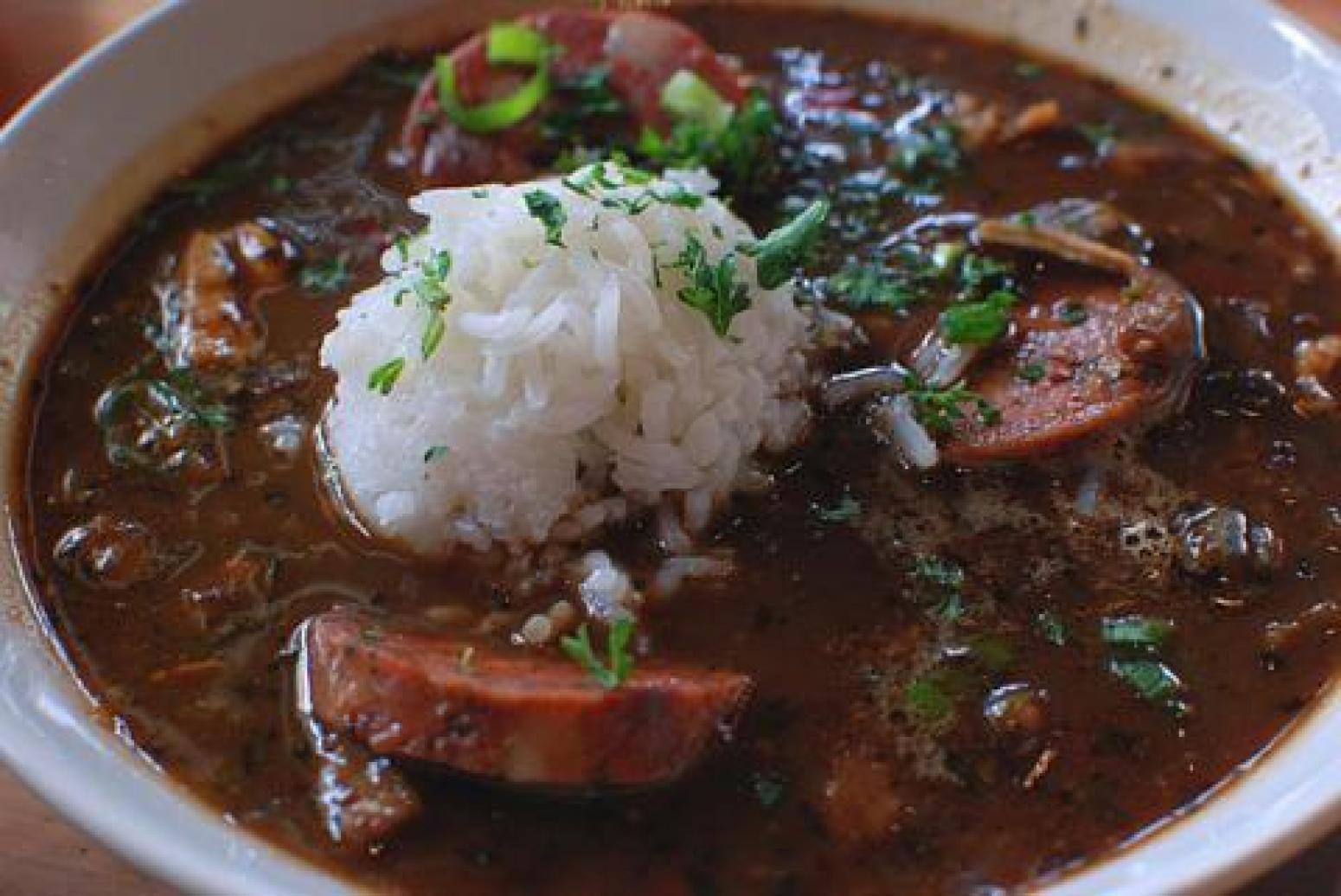 David's Chicken and Sausage Gumbo Recipe | Just A Pinch ...