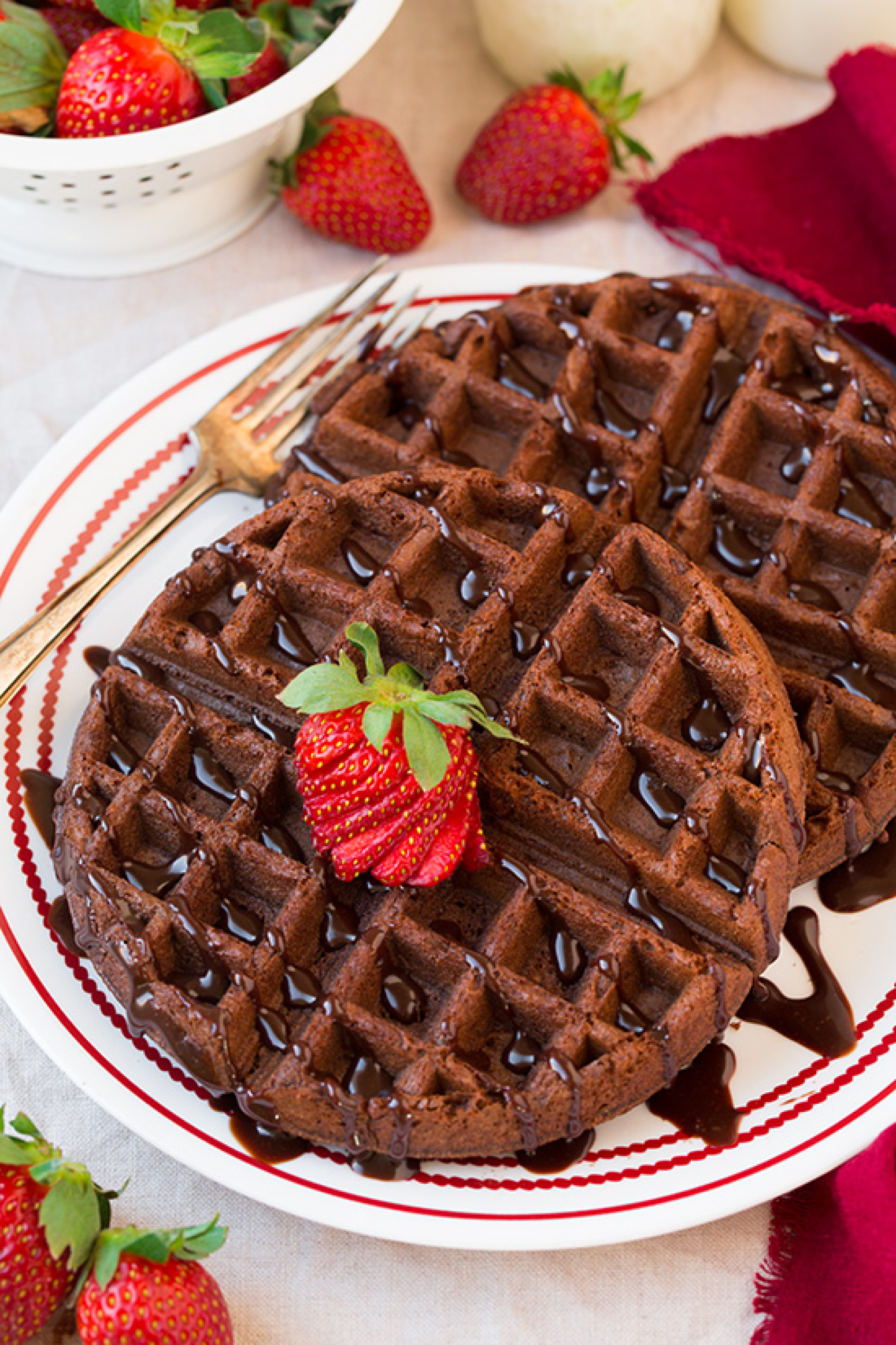 Chocolate Cake Mix Waffles (only 4 Ingredients) Recipe | Just A Pinch ...