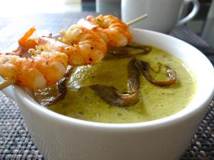 Creamy Roasted Poblano Soup Recipe