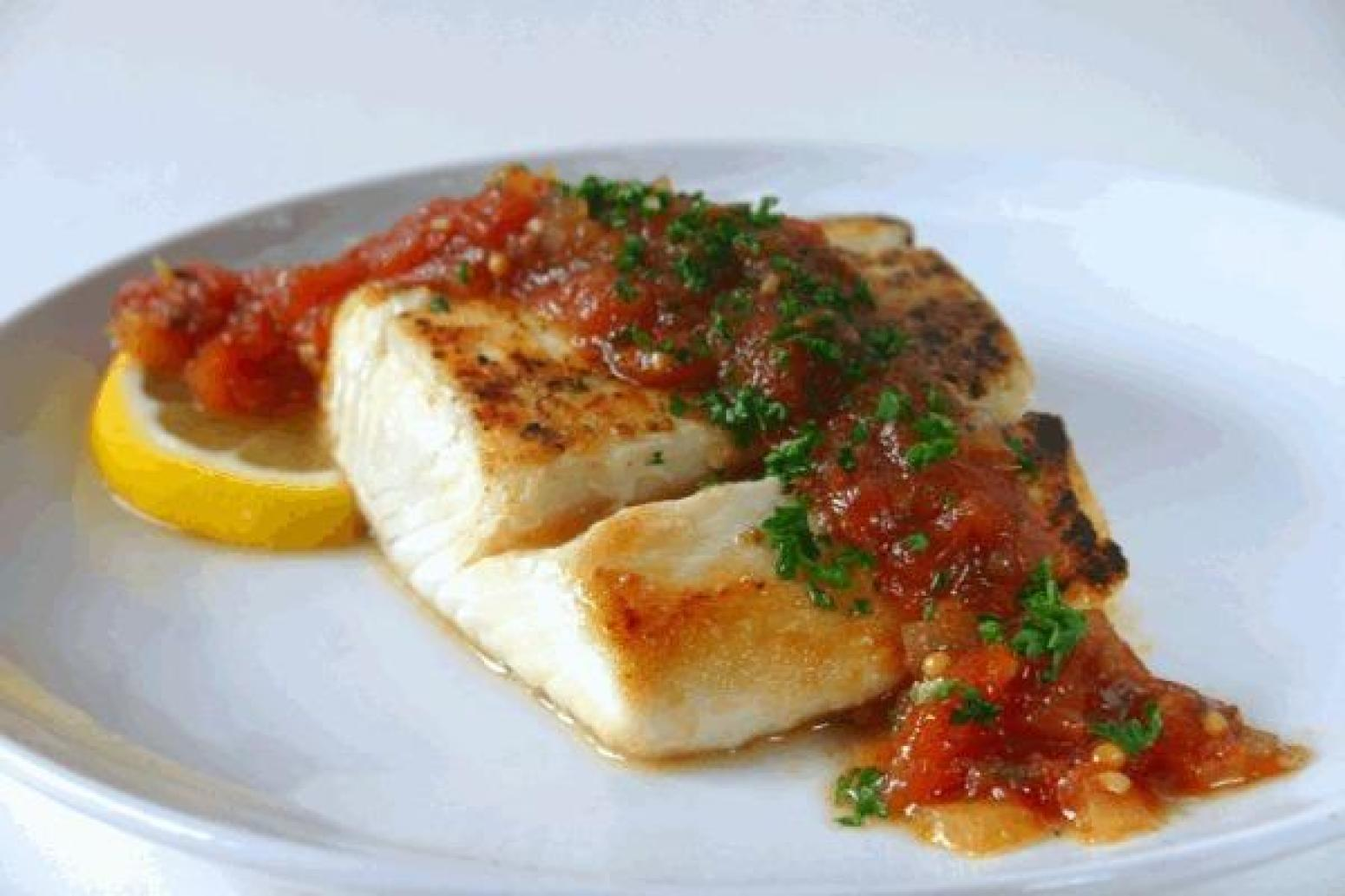 Mexican baked halibut recipe just a pinch recipes for Pan seared fish recipes