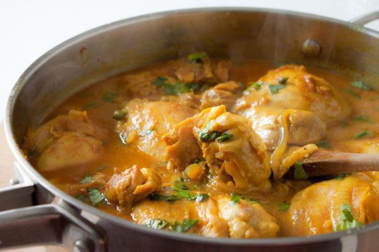 Spicy Coconut Chicken Curry Recipe Just A Pinch Recipes