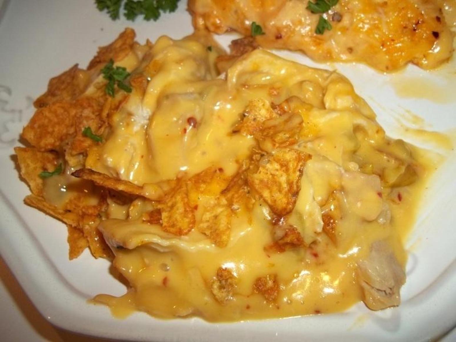 Crunchy / Cheesy Chicken Casserole ~ Recipe | Just A Pinch Recipes