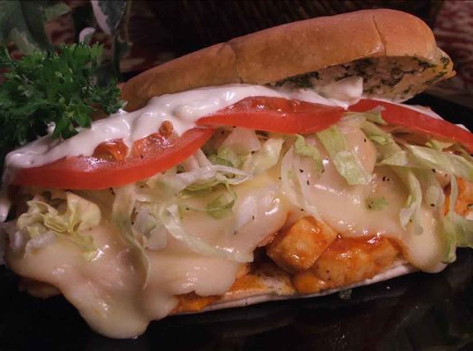 Buffalo Wing Garlic-Toasted Hoagies Recipe