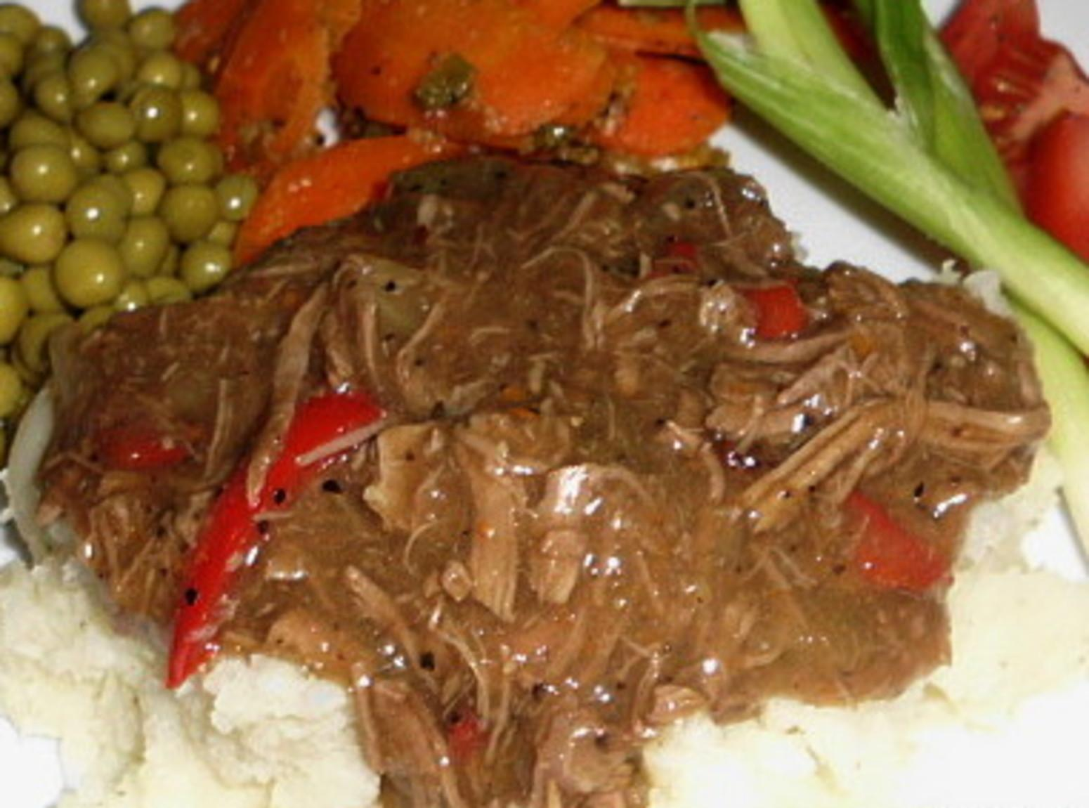 Shredded Beef with peppers and onions Recipe | Just A Pinch Recipes