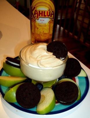 ~ Cassies White Chocolate Kahlua Dip ~ Delicious! Recipe