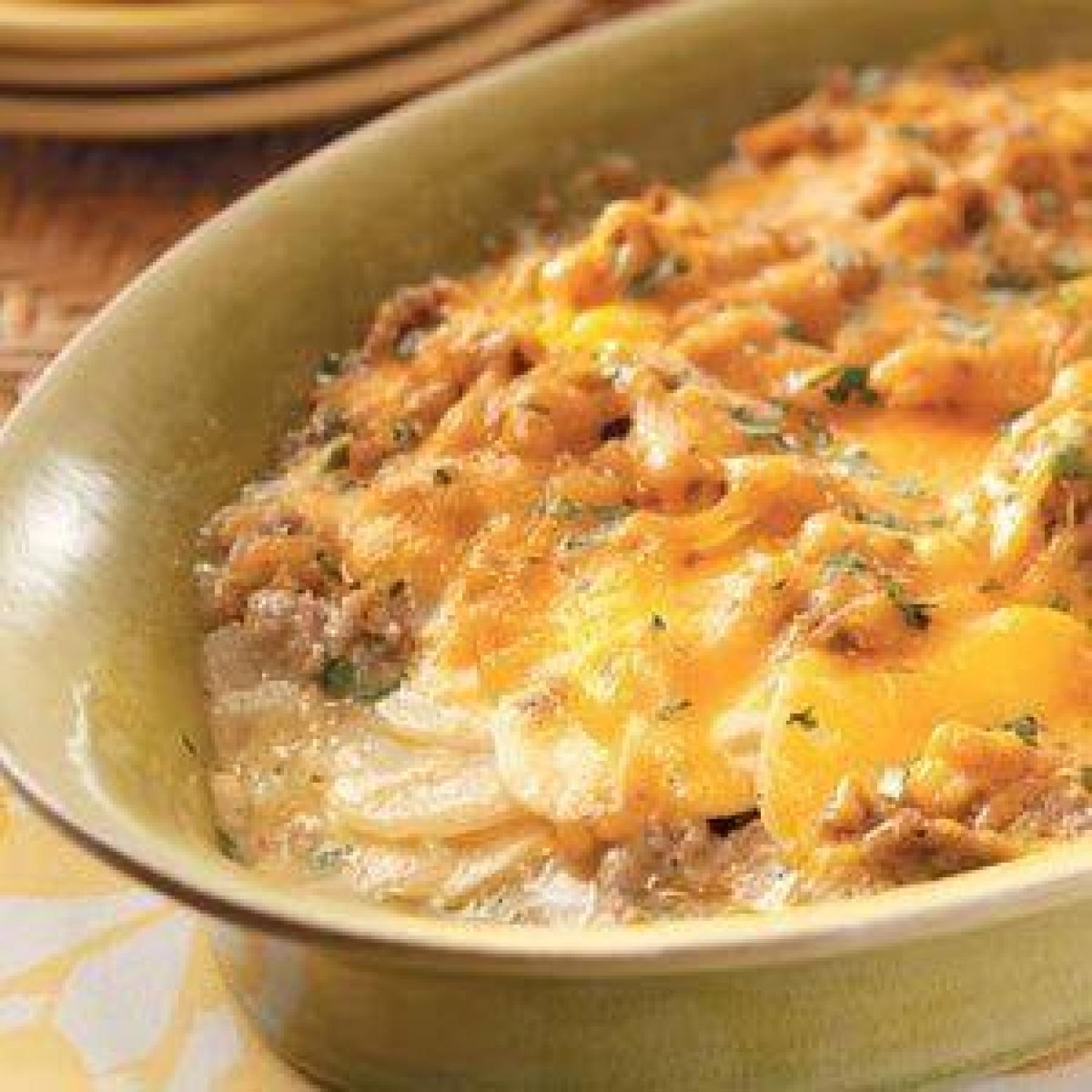 Potato and Sausage Casserole Recipe | Just A Pinch Recipes
