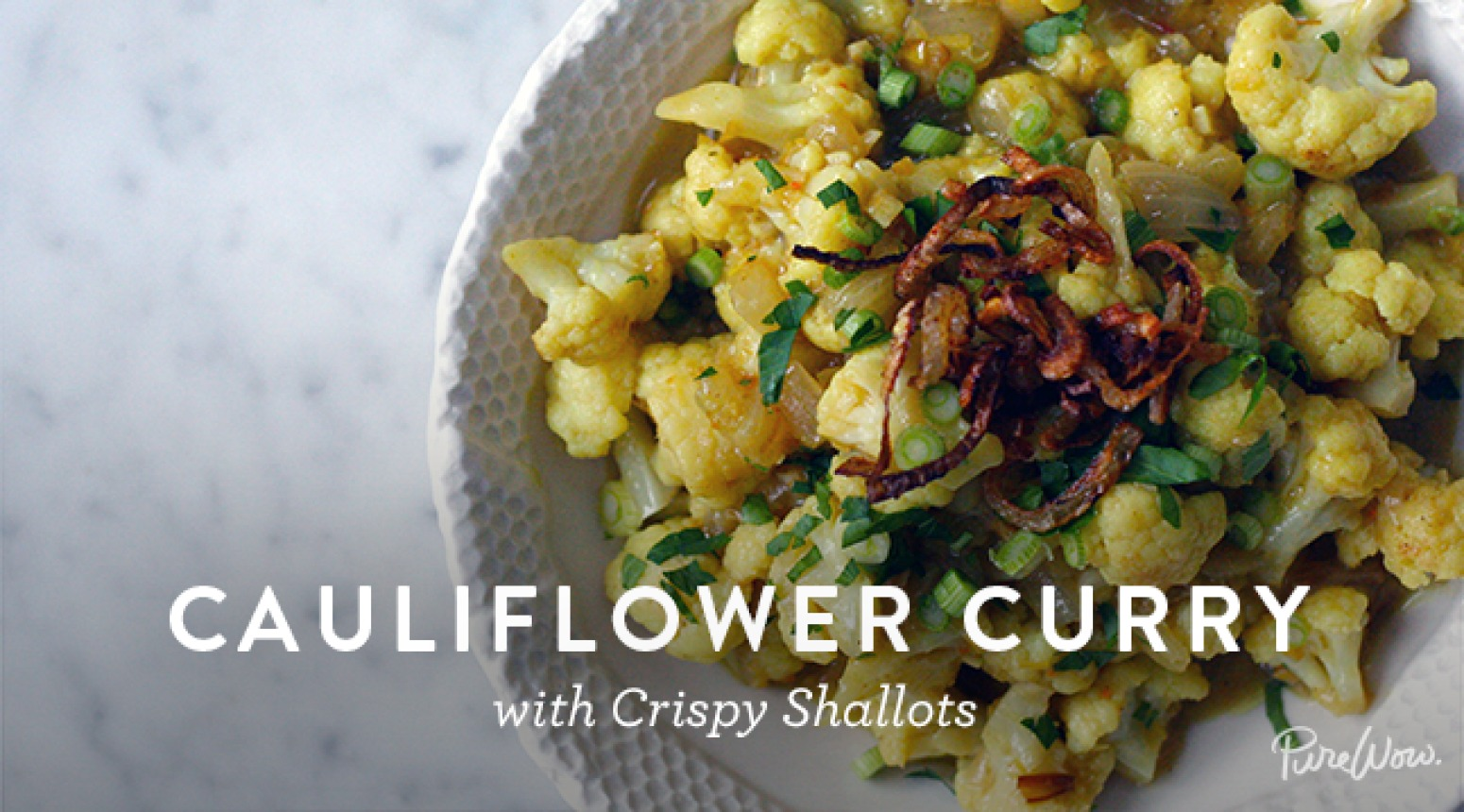Cauliflower Curry with Crispy Shallots Recipe | Just A Pinch Recipes