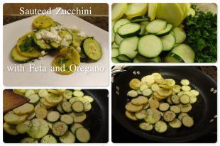 Sauteed Zucchini with Feta and Oregano Recipe