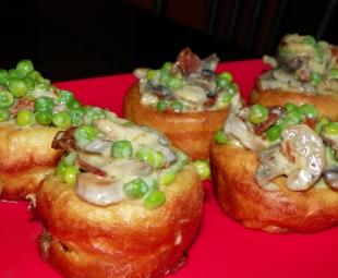 Peas with Mushrooms, Bacon & Cream Recipe