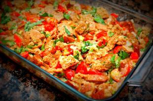 Tomato-Basil Bread Pudding Recipe