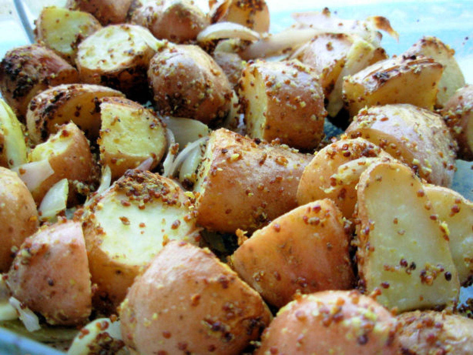 Mustard-Crusted Roast New Potatoes With Shallots and ...