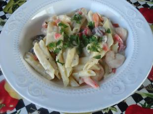 Shrimp and Roasted Red Pepper Alfredo Recipe