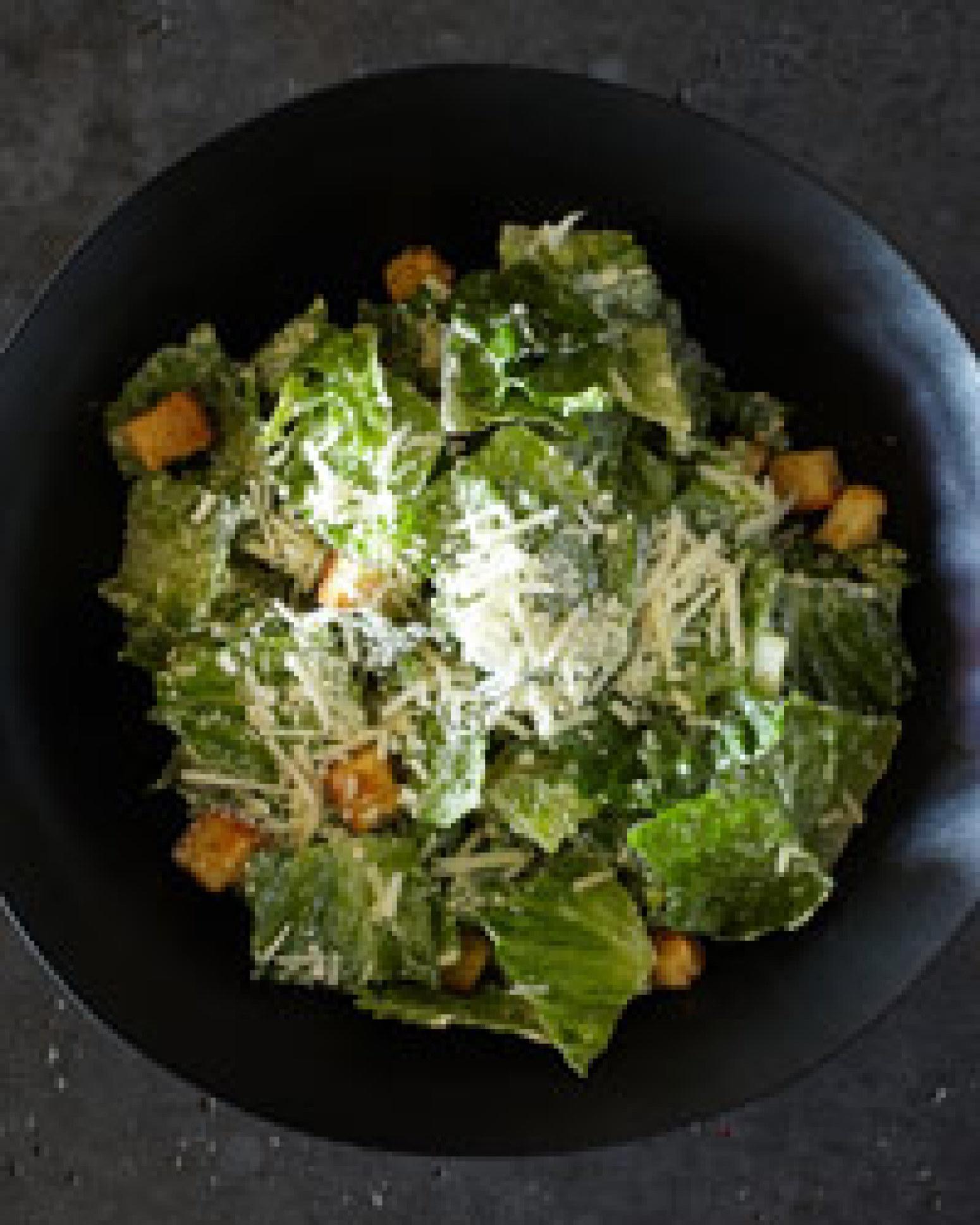 classic caesar salad recipe 2 just a pinch recipes. Black Bedroom Furniture Sets. Home Design Ideas
